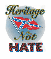 Novelty shirt heritage not hate dixie confederate flag south southern
