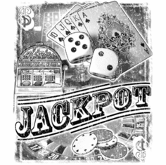 novelty shirt JACKPOT vegas gambling casino poker dice slots cards