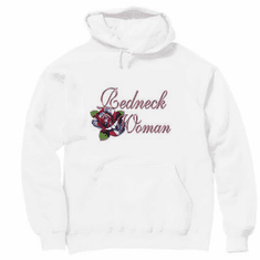 novelty shirt Redneck Woman confederate southern flag pullover hooded hoodie sweatshirt