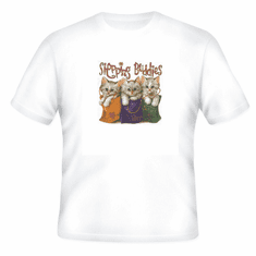 novelty t-shirt cute cat kitten SHOPPING BUDDIES cats kittens