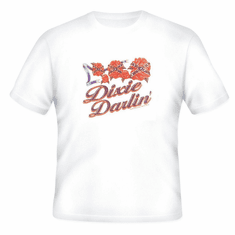 novelty t-shirt DIXIE DARLIN' darling southern girl confederate flag rose