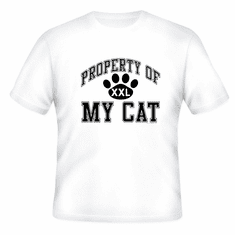 novelty t-shirt Property of My cat kitten pet