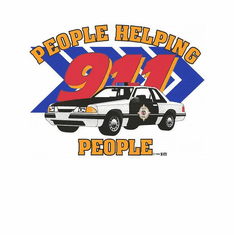 occupational police cop shirt  911 people helping people