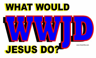 Our Unique Novelty Christian WWJD W W J D What would Jesus do tshirt shirt