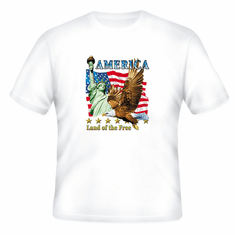 Patriotic America Land of the Free American Flag Eagle t-shirt shirt