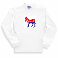 Patriotic American Democratic Democrat Donkey long sleeve t-shirt shirt sweatshirt