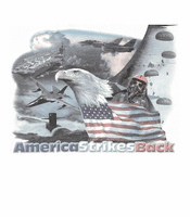 Patriotic American Flag Eagle America strikes back shirt