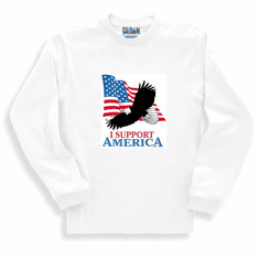 Patriotic American Flag Eagle I support America long sleeve t-shirt shirt sweatshirt