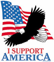 Patriotic American Flag Eagle I support America shirt