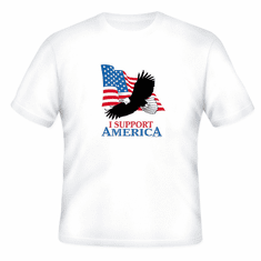 Patriotic American Flag Eagle I support America t-shirt shirt