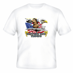 Patriotic American Flag Eagle Support our Troops yellow ribbon t-shirt shirt