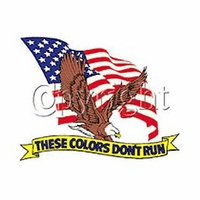 Patriotic American Flag Eagle These colors don't run shirt