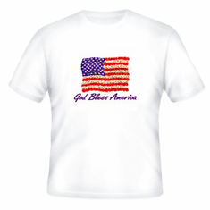 Patriotic American Flag God Bless America t-shirt shirt