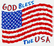 Patriotic American Flag God bless the USA shirt