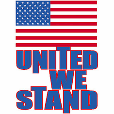 Patriotic American Flag United we stand shirt