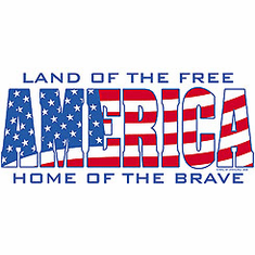 Patriotic American Land of the Free Home of the Brave America shirt