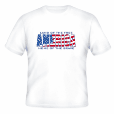 Patriotic American Land of the Free Home of the Brave America t-shirt shirt