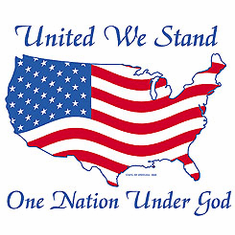 Patriotic American Map Flag United We stand One Nation Under God shirt