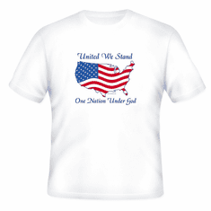 Patriotic American Map Flag United We stand One Nation Under God t-shirt shirt