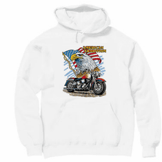 Patriotic American Tradition Eagle Flag Motorcycle hoodie hooded sweatshirt