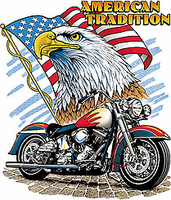 Patriotic American Tradition Eagle Flag Motorcycle shirt