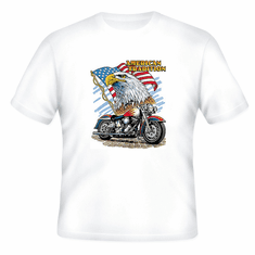 Patriotic American Tradition Eagle Flag Motorcycle t-shirt shirt