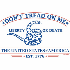 Patriotic Don't tread on me Liberty or Death The United States of America Est 1776 shirt