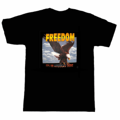 Patriotic eagle Freedom it's an American thing t-shirt shirt