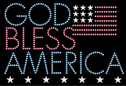 Patriotic Glitter Flag God Bless America shirt
