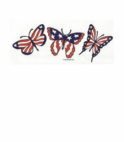 Patriotic red white blue butterflies shirt