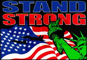 Patriotic Stand Strong American Flag shirt