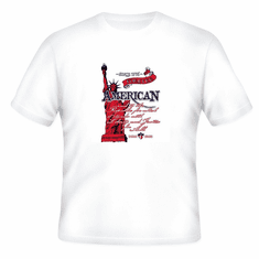 Patriotic Statue of Liberty Forever American And to the Republic for which it stands with Liberty and Justice for all Born Free t-shirt shirt