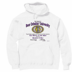 Pullover hoodie hooded sweatshirt:  Beer Drinkin' University drinking
