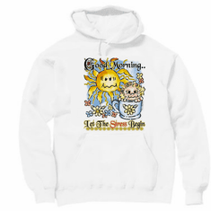 Pullover hoodie hooded Sweatshirt:  Good Morning.. Let the stress begin
