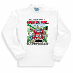 Redneck You know you're a Good Ol' Boy When you have a bumper sticker that reads Never mind the dog beware the owner long sleeve t-shirt shirt sweatshirt