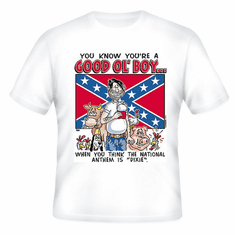 Redneck You know you're a Good Ol' Boy When you think the National Anthem is Dixie t-shirt shirt