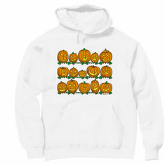 Seasonal Autumn Fall Halloween pumpkins jack o lantern hoodie hooded sweatshirt