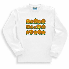 Seasonal Autumn Fall Halloween pumpkins jack o lantern long sleeve t-shirt shirt sweatshirt