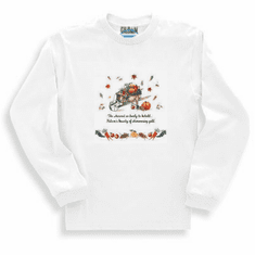 Seasonal Autumn Fall harvest so great to behold natures' bounty of shimmering gold long sleeve t-shirt shirt sweatshirt