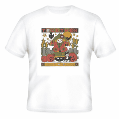 Seasonal Autumn Fall together makes it not so scary rag doll scarecrow pumpkins jack o lantern t-shirt shirt