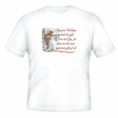 Seasonal Christmas May your Holiday include Love and Joy most important gifts t-shirt shirt