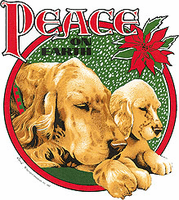 Seasonal Christmas Peace on Earth Puppy dog doggy shirt