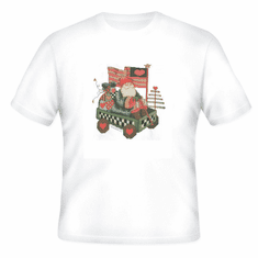 Seasonal Christmas Santa in wagon Americana t-shirt shirt