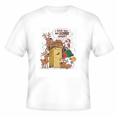 Seasonal Christmas Santa reindeer I told you the Schmidt house outhouse t-shirt shirt