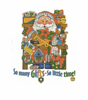 Seasonal Christmas Santa So many gifts so little time shirt