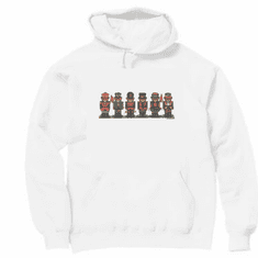 Seasonal Christmas teddy bear soldiers hoodie hooded sweatshirt