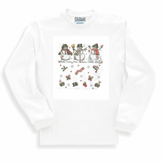 Seasonal Christmas Winter snowman snowmen snow many men little time long sleeve t-shirt shirt sweatshirt
