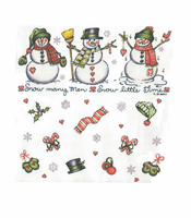 Seasonal Christmas Winter snowman snowmen snow many men little time shirt