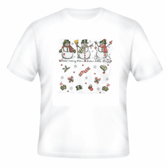 Seasonal Christmas Winter snowman snowmen snow many men little time t-shirt shirt