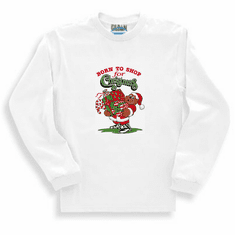 Seasonal Holiday Born to Shop for Christmas long sleeve t-shirt shirt sweatshirt